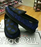 Bandana House Shoes Slippers Black/royal Mens Us Sz 7