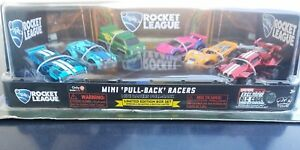ROCKET-LEAGUE-MINI-PULLBACK-RACERS-6-CAR-SET-RARE-LIMITED-EXCLUSIVE-w-DLC-CODE