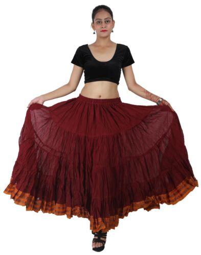 Bollywood Padma Maharani Tribal Fusion 25 Yard Belly Dancing Skirt 12 Colours