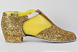 Gold-Rock-Glitter-Full-Suede-Sole-Greek-Sandal-Covered-Heel