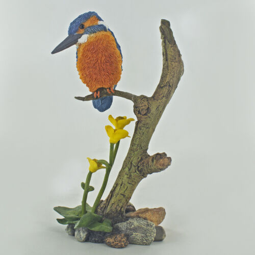 Kingfisher Marsh Marigolds Sculpture Figure Fishing Gift Present Bowbrook 04087