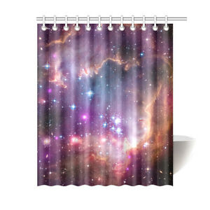 Custom Bathroom Curtain Special Design Galaxy Universe Shower Curtain 60x72 Inch