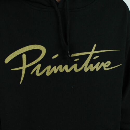 Taglie xl Sweatshirt Primitive l Hooded Black Script Nuevo In M qOwBpFC