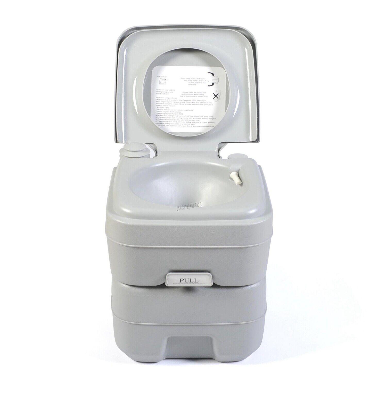 FoxHunter 20L Portable Toilet Flush Caravan Camping Travel WC Loo Porta Potty 4