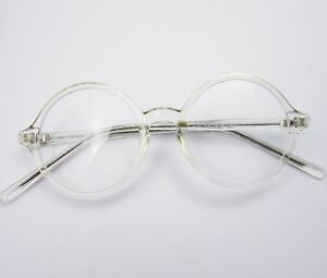 image is loading 43mm 45 47 50 vintage round glasses clear