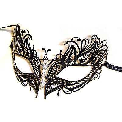 Luxury Venetian Style Metal Filigree Masquerade Mask Diamante Stunning Butterfly