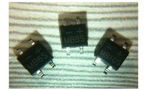 10 PCS MB10S 0.5A 500mA 1000V Bridge Rectifier SOP-4 SMD New