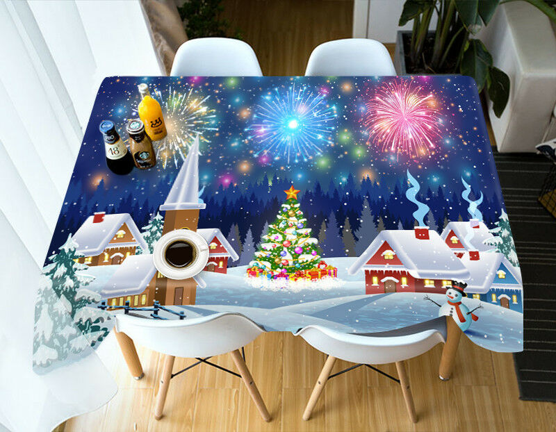 3D Christmas Xmas 133 Tablecloth Table Cover Cloth Birthday Party Event AJ WALL