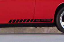 CUSTOM TEXT Side Body Stripes Racing Race Rally Car Vinyl Sticker Decal #1a