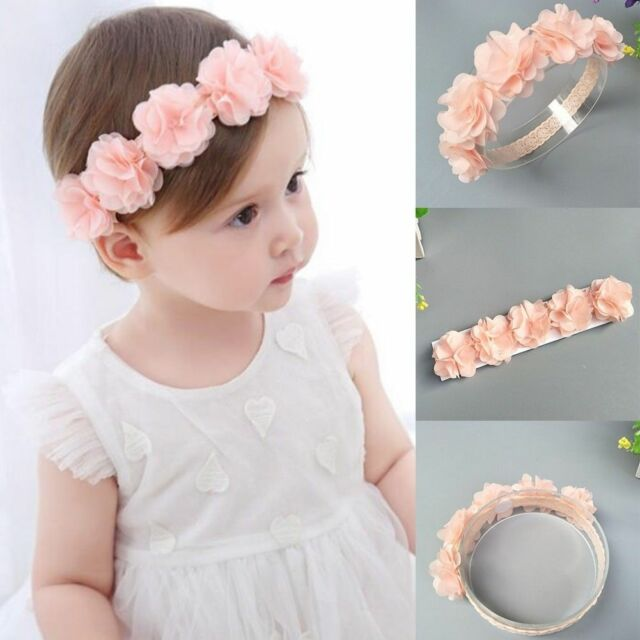 8afc41464 Kids Baby Girl Toddler Lace Flower Hair Band Headwear Cute Headband  Accessories