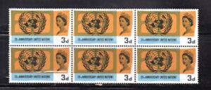 A-block-of-6-Queen-Elizabeth-II-stamps-SG-681-Anniversary-UNO-Mint-UM