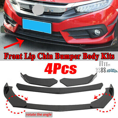 Top10 Racing 6Pcs Exterior Front Bumper Lip Splitter Universal Carbon Fiber Car Body Diffuser Spoiler Splitter Canards Trim Kit