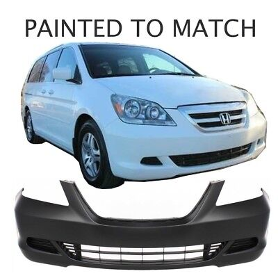 Painted to Match Fits 2005 2006 2007 Honda Odyssey Front Bumper w//o Fog