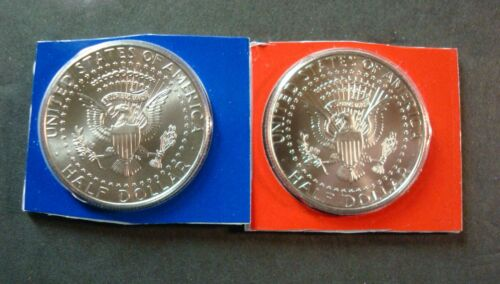 2017-P+D NEVER TOUCHED UNCIRCULATED KENNEDY HALF DOLLARS IN SEALED PLASTIC A-17