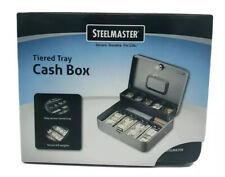 Steelmaster Tiered Tray Cash Box 2216194g2 Gray Withlock