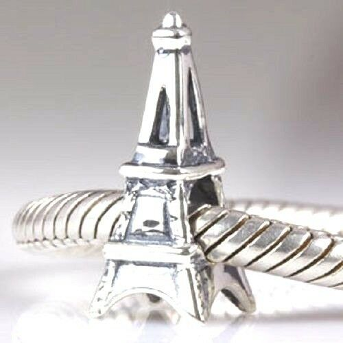 Eiffel Tower Charm Bead 925 Sterling Silver