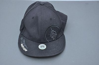 Public Enemy Rebirth of a Nation Fitted Baseball Cap/Hat Black Size XL 7-5/8