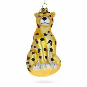 Leopard-Blown-Glass-Christmas-Ornament