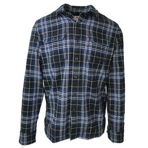 Levi-039-s-Men-039-s-Blue-Plaid-Jackson-Worker-L-S-Woven-Shirt-Retail-70-00