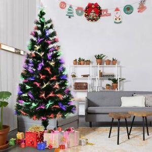 Details About Led Xmas Tree Fibre Optic Christmas Tree Multicoloured Lights Rainbow Pre Lit Uk