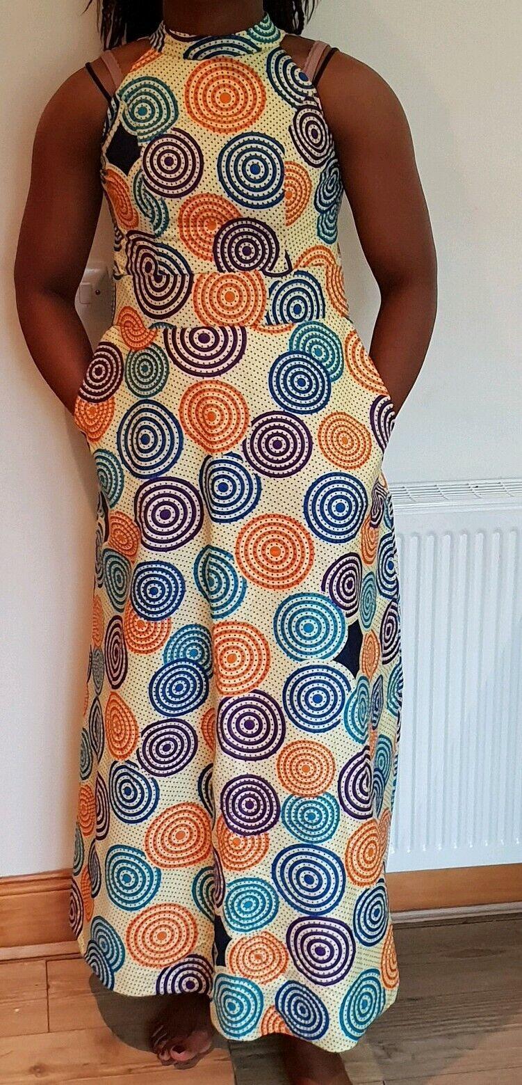 Signore Donne Moda Abiti Donna stampa Africana cera Ankara Vestito Abito Lungo