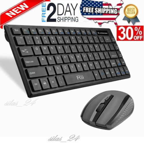 best Wireless Keyboard and Mouse Combo Computer Desktop PC Laptop Cordless