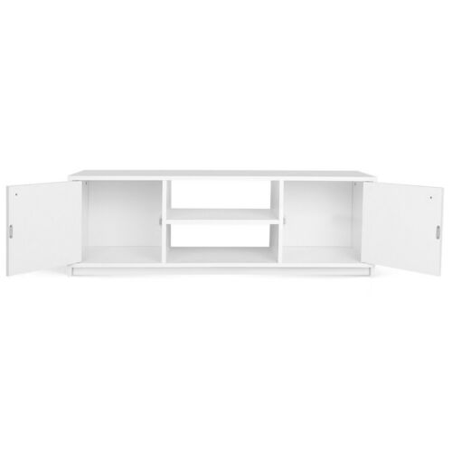 White ZAS033367471 Entertainment Unit with 2 Storage Cupboards TV Stand
