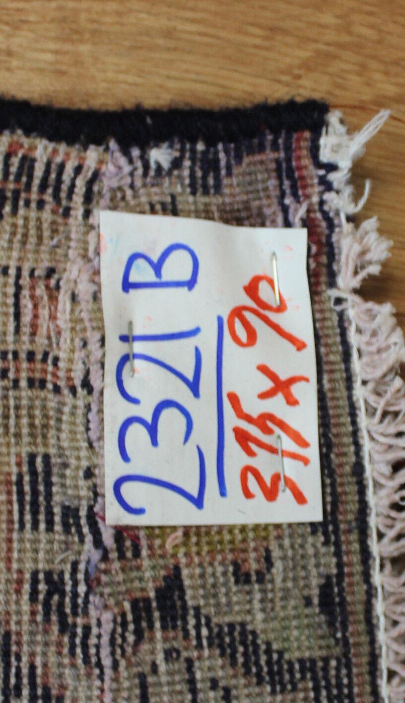 Traditionnel Tapis Vintage Laine Fait Main Classique Oriental Zone Tapis Traditionnel Tapis 315x90 cm 0b8cc5