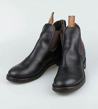 NIB RALPH LAUREN DOUBLE RL RRL U.S.A Congress Black Leather Boots Shoes 12 $1250