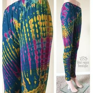e85427eb86 26 Hippie BoHo Rayon Thailand Rainbow Tie Dye Yoga Leggings Sure ...