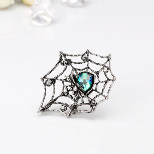 Abalone Coquille Strass Cristal Rhodium Plaqué Spider avec Net PIN et broche