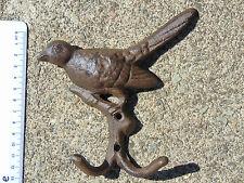 Brand New Ghisa Birds Gancio a muro-DUE GANCI-facile da allegare alla superficie piana