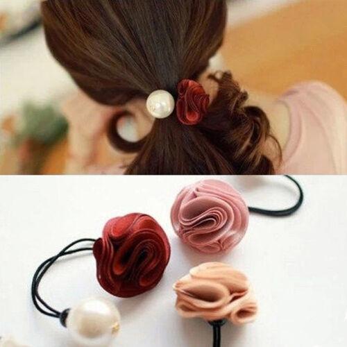 Nouveau élégant élégant Roses Fleur Perle Cheveux Accessoires cheveux bande H8