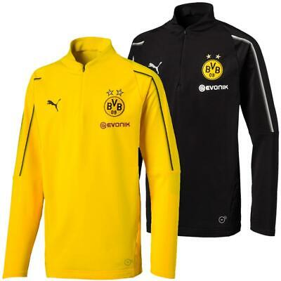 Puma Bvb Borussia Dortmund Kinder 1/4 Zip Training Top Langarm