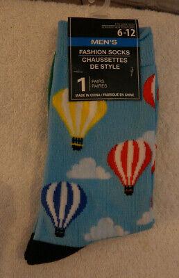 Men/'s Fashion Novelty Casual Dress Hot Air Balloon Socks Size 6-12
