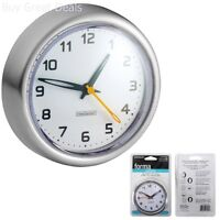 Bathroom Decor Battery Operated Water Resistant Suction Clock Shower Wall Mount