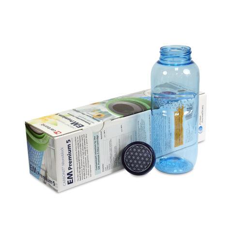Carbonit NFP Premium EM-5 Filtro Acqua   0,5l Borraccia Fiore Della Vita