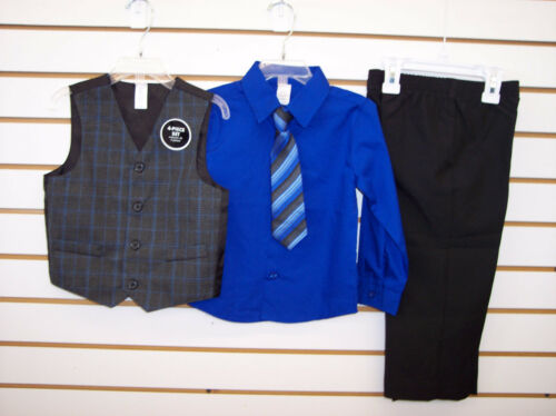 Infant /& Toddler Boys Assorted 4pc Vest Suits Sizes 3//6 Month /& 6//9 Month