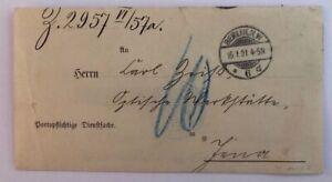 Dt-Reich-portopflichtige-Dienstsache-Berlin-Patentamt-n-Jena-1901