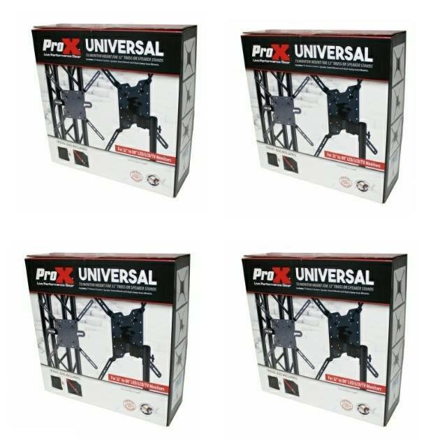 4 Prox DJ Universal TV   MONITOR MOUNT FOR 12 inch Truss or Spearker Stands