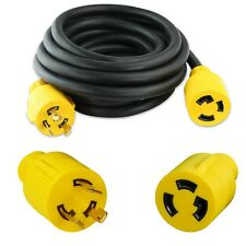 Generator Extension Cord 15 Ft 3 Prong Power Cable 10 3 30 Amp Adapter Plug New