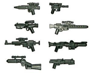 Lego-Star-Wars-Waffen-Blaster-Gewehr-Clone-Trooper-Rebel-Stormtrooper-Waffe-8-Pack