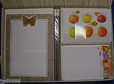 Hallmark Nature's Sketchbook Bastin Desk Set Butterfly Fall Stationery Pad Notes