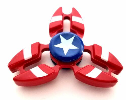 Toy Metal Captain America Tri-Spinner Fidget Toys