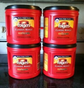Details About 4 30 5 Oz Empty Red Coffee Cans W Lids Folgers Garage Craft Storage Containers