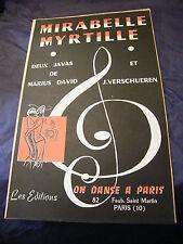 Partition Mirabelle Myrtille 1958 Marius David J Verschueren 1958 Music Sheet