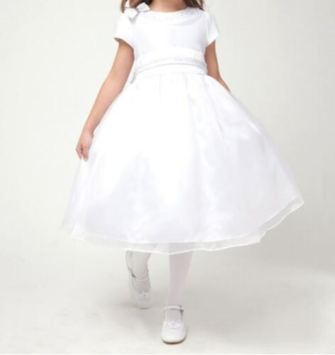 4 6 10 CLOSEOUT FLOWER GIRLS WEDDING PAGEANT WHITE  DRESS SIZE 2