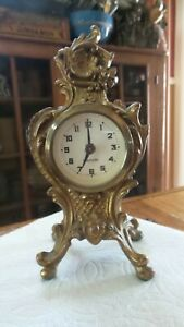 Vintage Small Fancy Shelf CLOCK Mercedes, Made in Germany ...