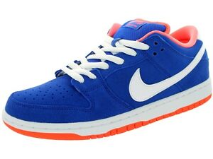 Nike DUNK LOW PRO SB Game Royal White Bright Mango Discounted (415) Men's Shoes