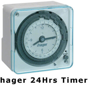 Hager eh711 24hrs analog timer switch wall mount for lighting image is loading hager eh711 24hrs analog timer switch wall mount mozeypictures